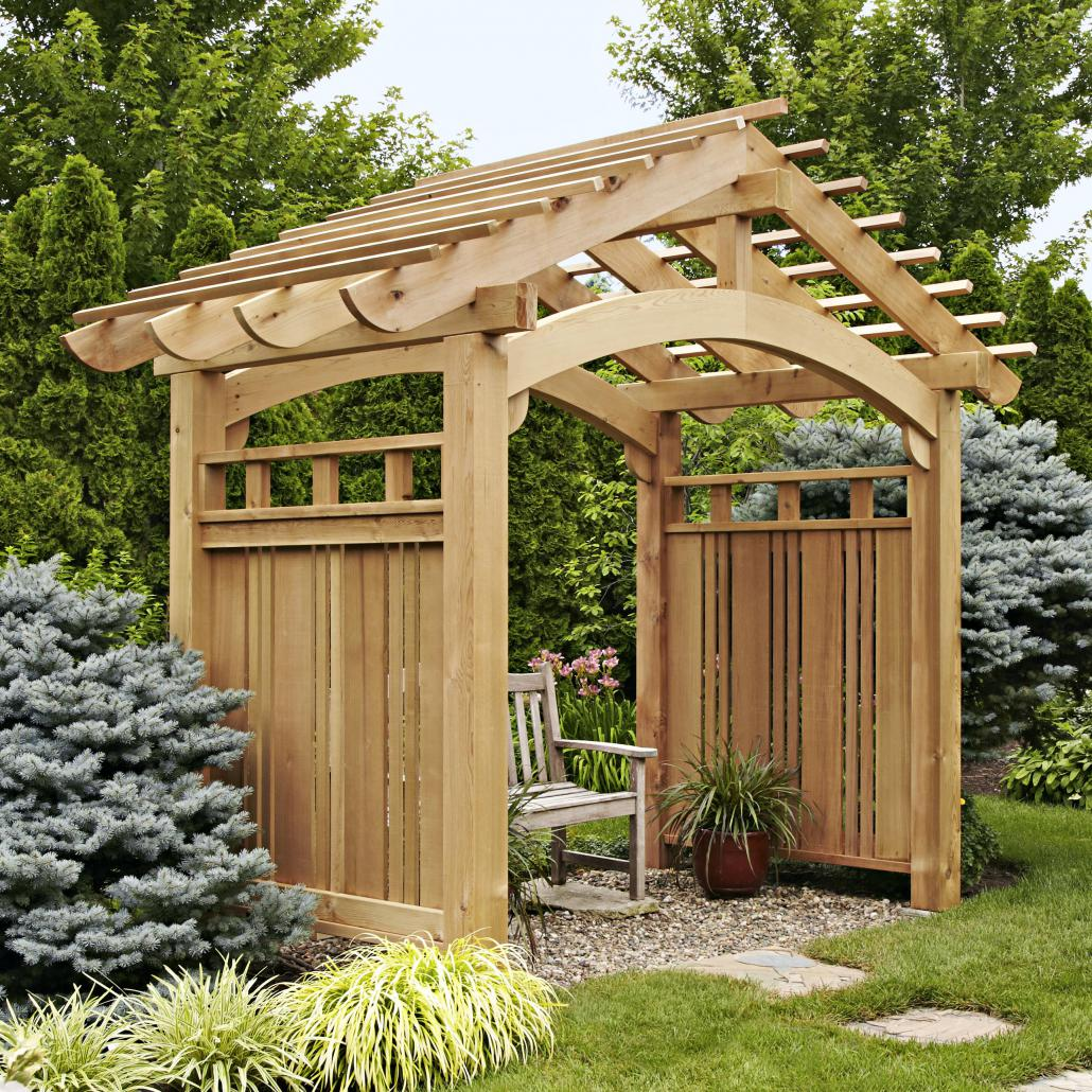 Arched Arbor Installation